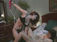Lesbians in bra and panties fetish and insert toys in their holes