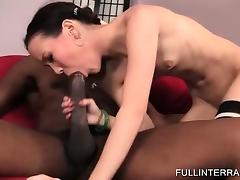 Skinny Asian gets extreme with black dick porn tube video