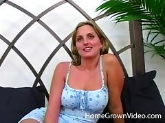 Getting her pussy pleased by a hung dude and another blonde