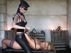 Busty blonde tortured in femdom action tube porn video