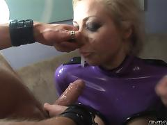 Lovely porn sweethearts gives huge cock a hot blowjob in naughty group banging