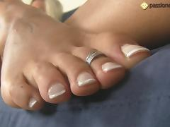 Thays Schiavinato showing of her precious and sexy feet tube porn video