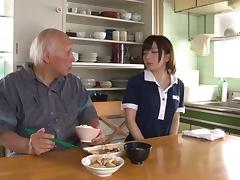 Aimi Yoshikawa specializes in pleasing older horny men