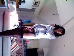 Having fun in my silver latex dress. tube porn video