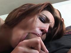 His big cock finds his way in her little hole