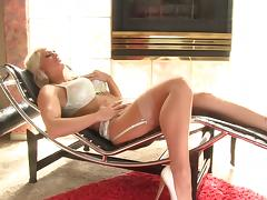 Interracial gangbang action with long haired blonde sex doll