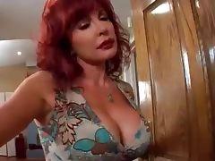 Redhead milf Vanessa seduces young BBC tube porn video