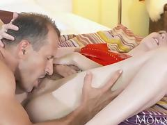 MOM After 69 stud cums inside hairy pussy