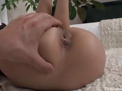 Hardcore anal gives a hot young student a fantastic orgasm