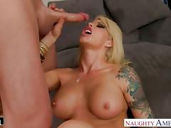 Tattooed cutie brooke haven gets facialized
