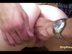 french Nymph gets cock in asshole