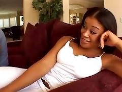 Ebony Pink DP fuck & Swallow cum