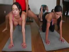 Four hot gym girls fucked hard tube porn video