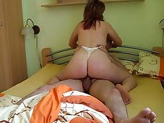 kinky homemade amateur girlfriend riding my cock huge orgasm