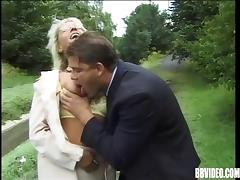 Nasty mature babes getting fiercely rammed outdoors tube porn video