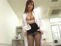 Nerdy Japanese sweetheart shows she has a dirty side too
