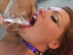 Katja Kassin drinks cum tube porn video