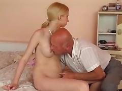 Dad and Girl, Amateur, German, Old Man, Skinny, Teen