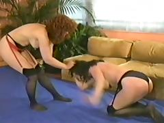 Retro milfs Catfight porn tube video