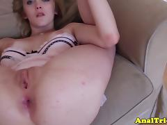 Cumshot loving flexible girlfriend assfucked tube porn video