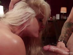 blonde milf gets banged by gang of men