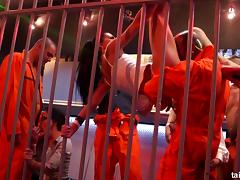 Bad girls in prison end up having a wild orgy in their cell tube porn video