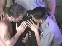 Muscle Cop Threesom tube porn video