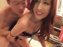 Her big Japanese tits are enjoyed by two guys that fuck her tube porn video