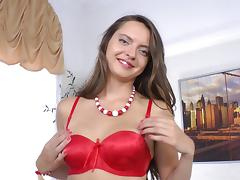 Anal beads delight her asshole and his big dick feels best