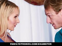 FamilyStrokes - Sexy Teen Gets a Little Help From Step Mom