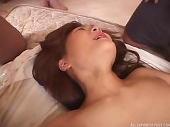 lusty asian babe gets fucked by gang