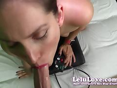 Lelu Love-Funny Interruption During POV Blowjob Facial tube porn video