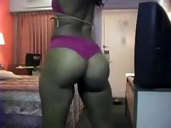 Booty clapping in hotel room
