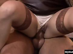Blonde, Blonde, Blowjob, Cumshot, European, Lingerie