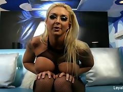 Kinky blonde Leya humiliates you & gives her new man a BJ