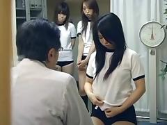 Japanese schoolgirl (21+) medical exam tube porn video