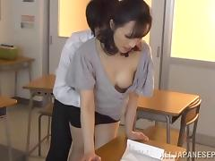 Teacher, Asian, Banging, Brunette, College, Couple