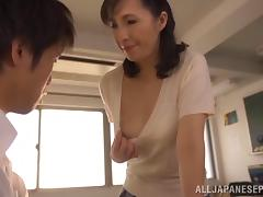 Mom and Boy, Asian, Blowjob, Couple, Handjob, Hardcore