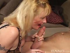 Tattooed milf is hungry for a pulsating pecker hardcore