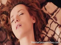 Stunning redhead turned on and fucked by her horny boyfriend tube porn video