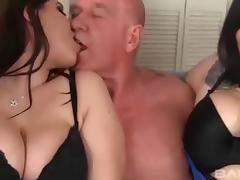 Juicy BBWs enjoy riding and sucking a man's hard dick
