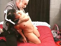BDSM, BDSM, Bed, Bound, Cute, Interracial
