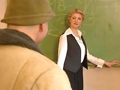 Blonde teacher tube porn video