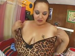 Fat woman with enormous soft tits is a slut for a hard cock