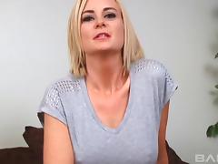 Gorgeous blonde MILF gives a tremendously hot blowjob