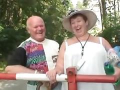 Grandpa Mireck in a 3some tube porn video