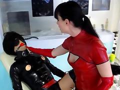 what a dream -  rubber sissy training Cheyenne de Muriel