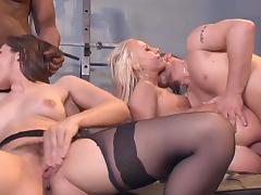 Orgy on gym