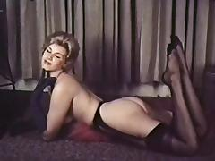 PERHAPS - vintage blonde striptease stockings gloves tube porn video
