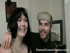Blazing brunette moans while getting drilled in an epic bed sex clip